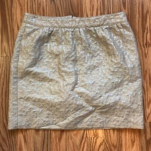 Loft silver and beige pencil skirt size small